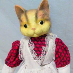 Cat Ceramic Doll
